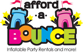 bounce house party rental company logo