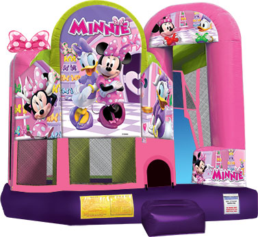 Minnie Mouse bounce house slide combo